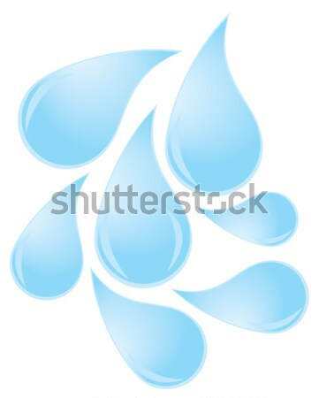Gotas de água vetor assinar limpar legal sombra Foto stock © lilac