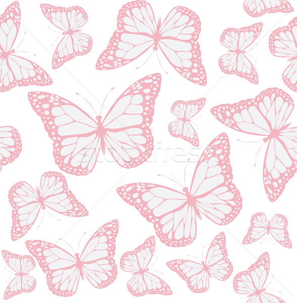Vetor borboleta sem costura moda abstrato natureza Foto stock © lilac