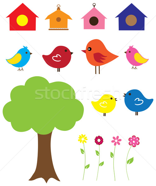 Funny Birds Stock photo © lilac