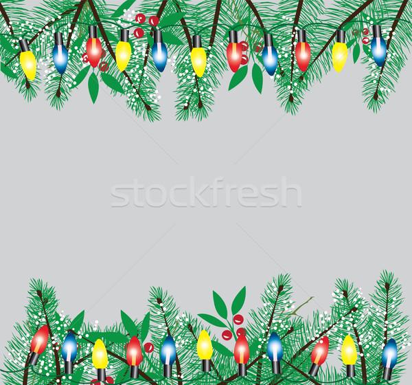 Stock photo: Christmas Lights Vector