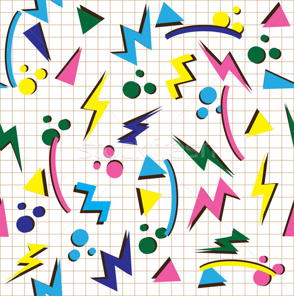 80s background vector Stock photo © lilac