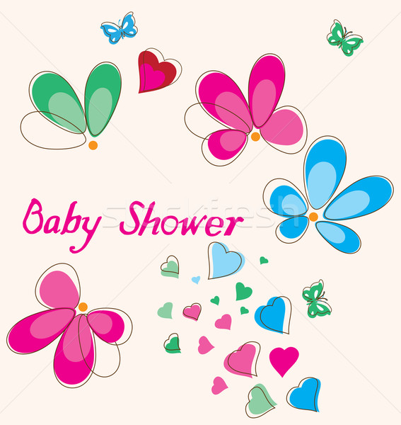 Baby Shower Card Stock photo © lilac
