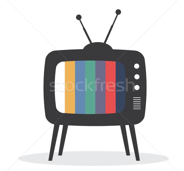 tv retro vector Stock photo © lilac