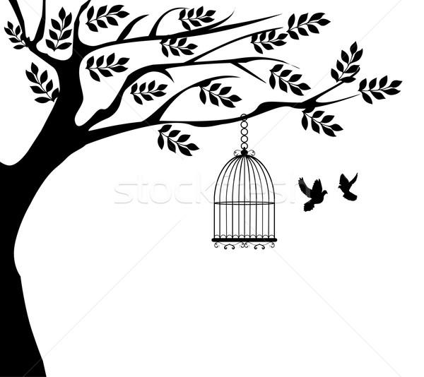 árbol jaula casa primavera Foto stock © lilac