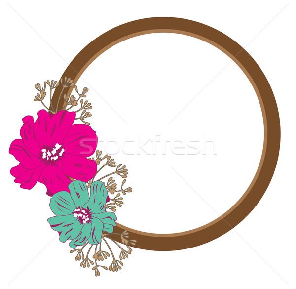Espelho flores vintage flor homem construção Foto stock © lilac