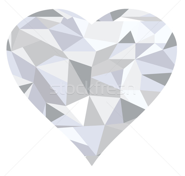 Diamond Heart Stock photo © lilac
