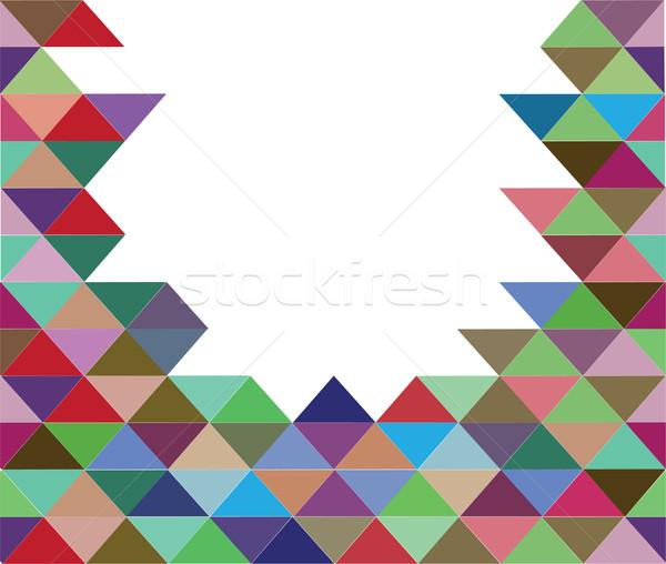 Foto d'archivio: Mosaico · vettore · piastrelle · design · sfondo · wallpaper