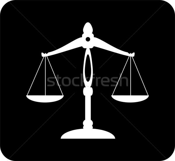 ölçek vektör adalet arka plan hukuk yargıç Stok fotoğraf © lilac