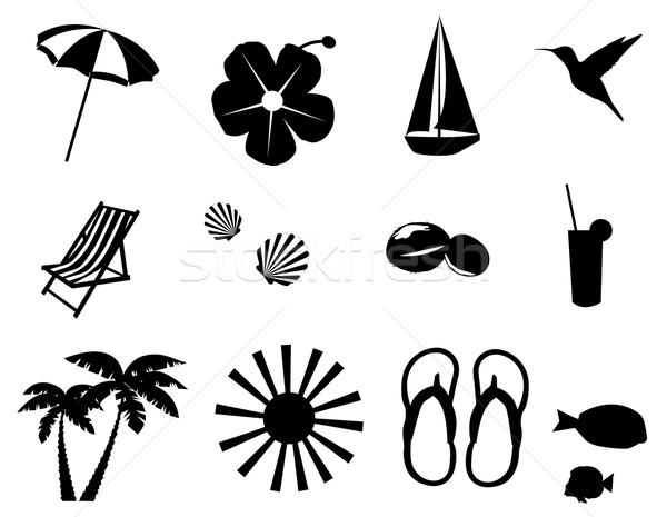 beach icons Stock photo © lilac