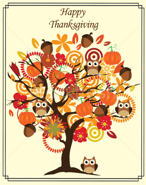 Vector Thanksgiving Day Tree Stock photo © lilac