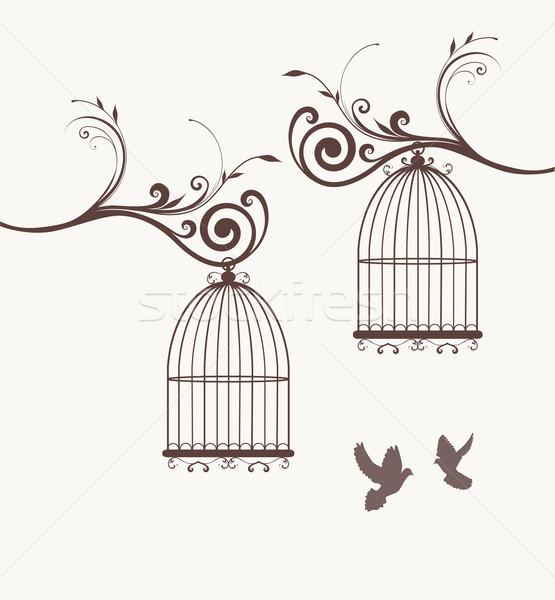 鳥 ベクトル ヴィンテージ 家 デザイン ホーム ストックフォト © lilac