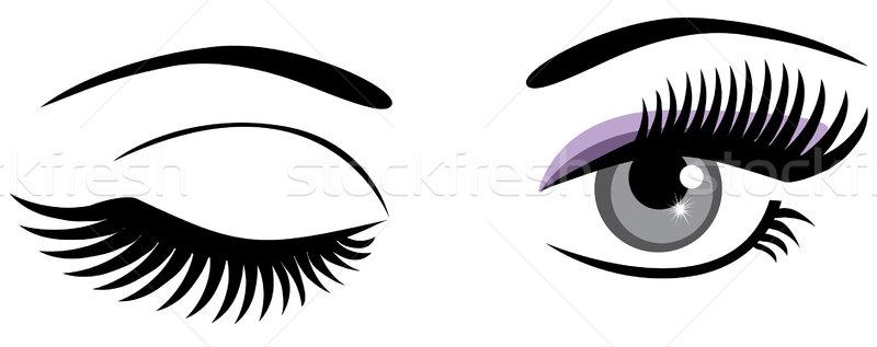 Vetor olhos olho luz azul Foto stock © lilac
