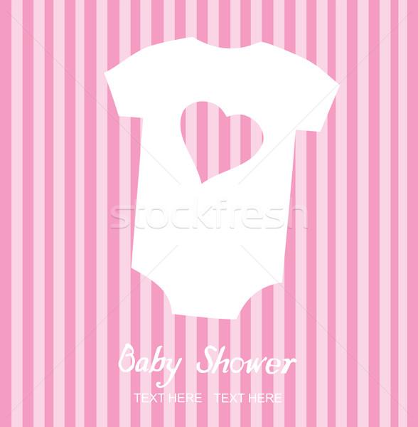 Bebek elbise vektör duş kart dizayn Stok fotoğraf © lilac