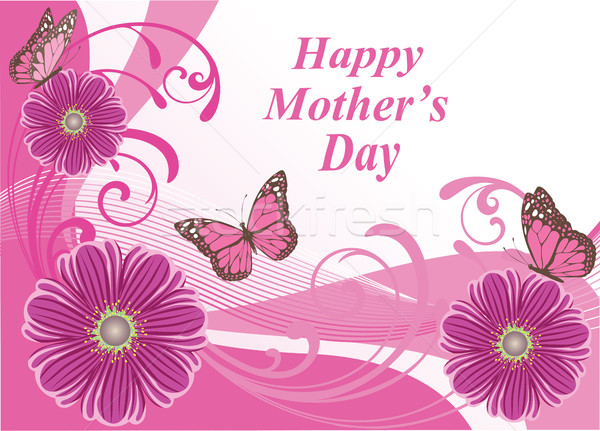 floral card vector  Stock photo © lilac