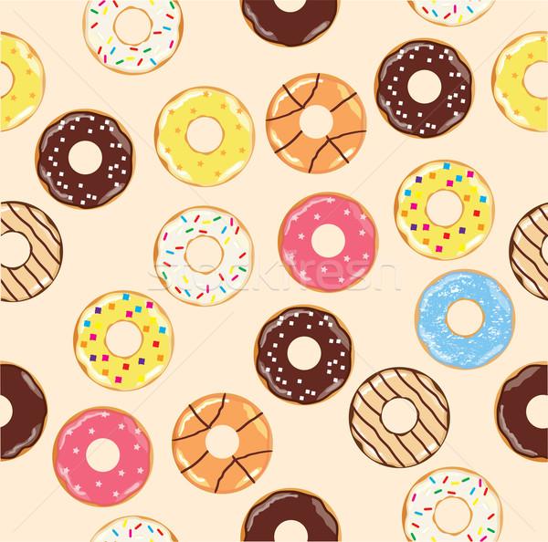Sem costura projeto chocolate café café da manhã Foto stock © lilac