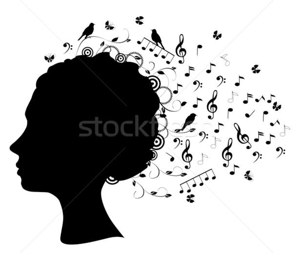 head silhouette Stock photo © lilac