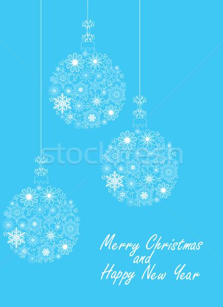 вектора Рождества снежинка аннотация снега Сток-фото © lilac
