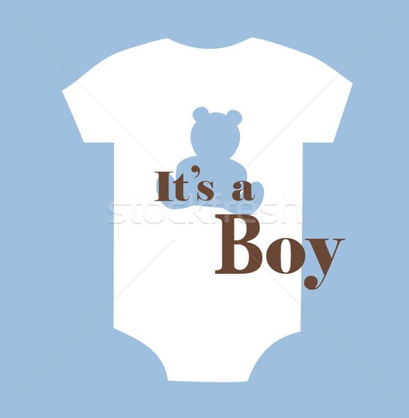 Stok fotoğraf: Bebek · duş · kart · dizayn · arka · plan · erkek