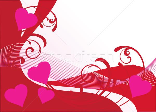 Valentine vetor corações amor coração Foto stock © lilac