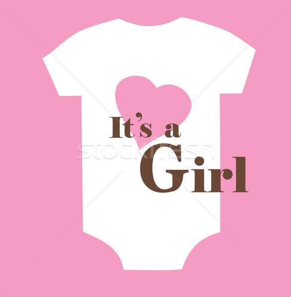 Baby douche kaart meisje achtergrond jongen Stockfoto © lilac