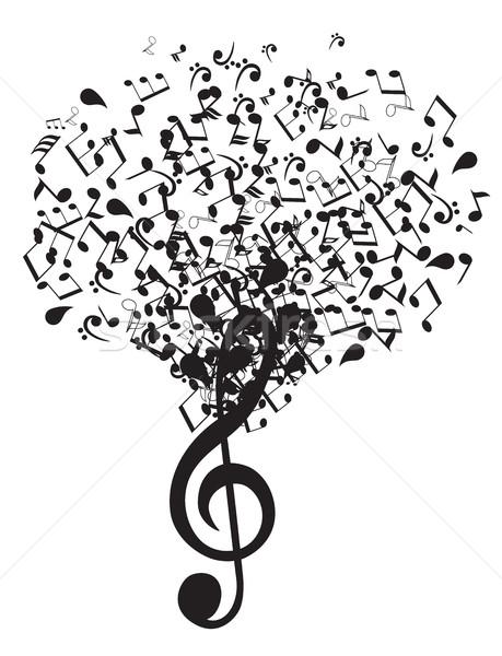 Vector Music Tree Stock photo © lilac
