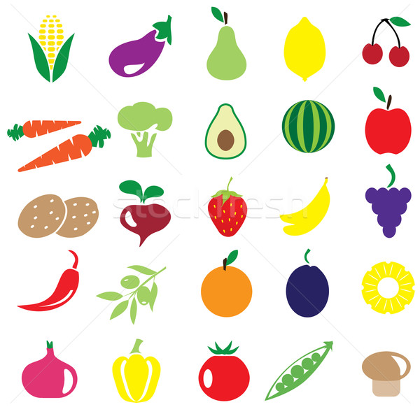 Fruits and vegetables Stock photo © lilac