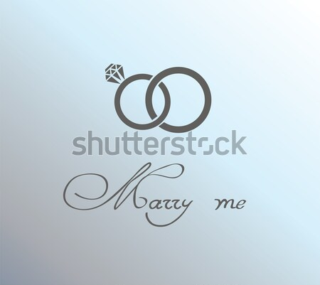 Trouwringen twee geïsoleerd witte hand partij Stockfoto © lilac