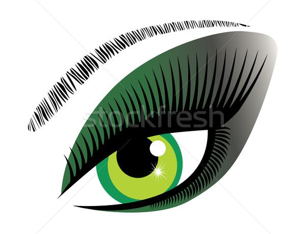 Vector Green Eye Stock photo © lilac