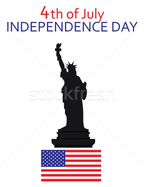 статуя свободы четвертый искусства звездой свободу Сток-фото © lilac