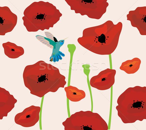 Gelincikler sinekkuşu çiçek bahar doğa Stok fotoğraf © lilac
