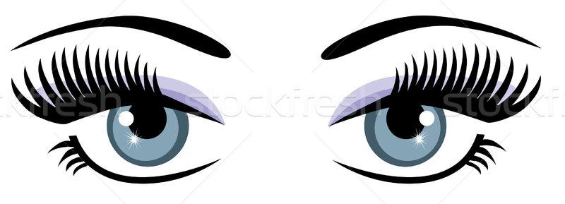 Gözler vektör kadın göz ışık mavi Stok fotoğraf © lilac