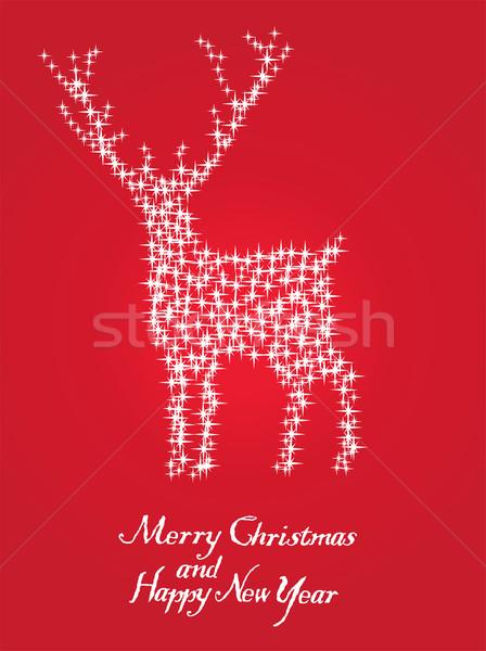 Rena vetor estrelas natal abstrato natureza Foto stock © lilac