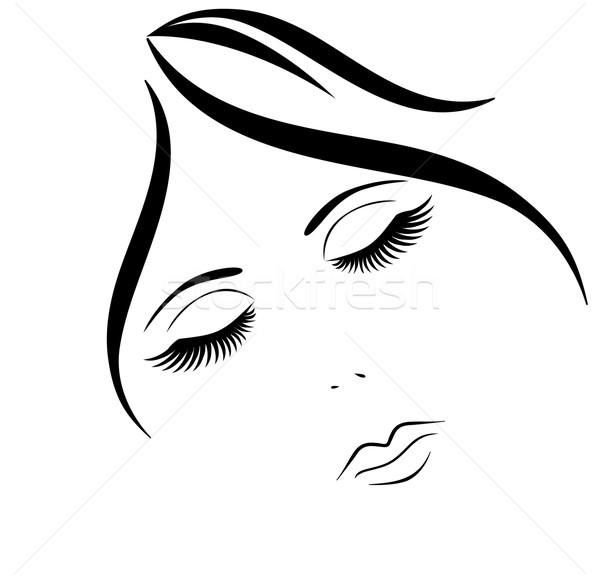 Makyaj Vektör Kadın Yüzü Yüz Boyama Kadın Vektör