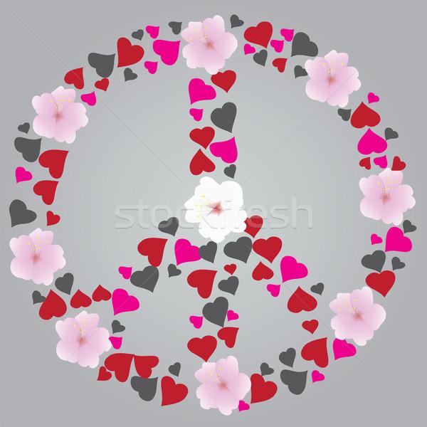 Barış imzalamak soyut çiçek sanat savaş Stok fotoğraf © lilac