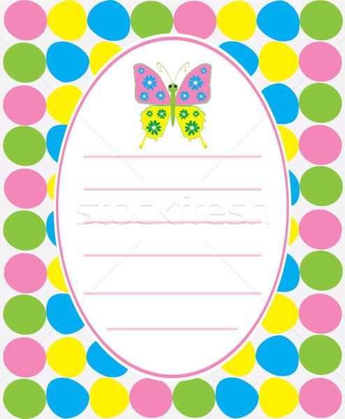 Cartão bebê chuveiro borboleta abstrato Foto stock © lilac