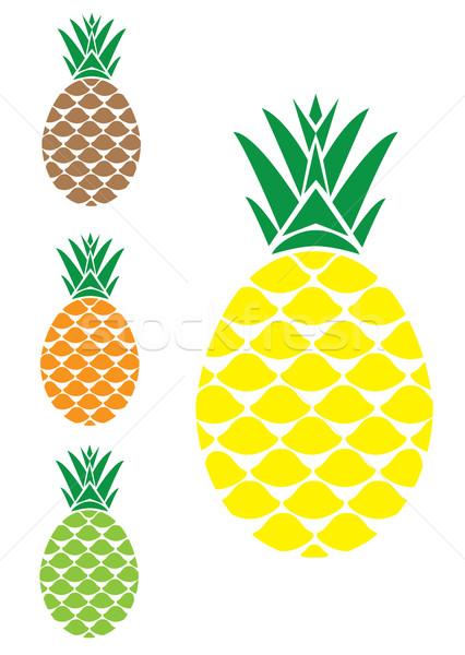 вектора ананаса продовольствие дизайна фрукты лет Сток-фото © lilac