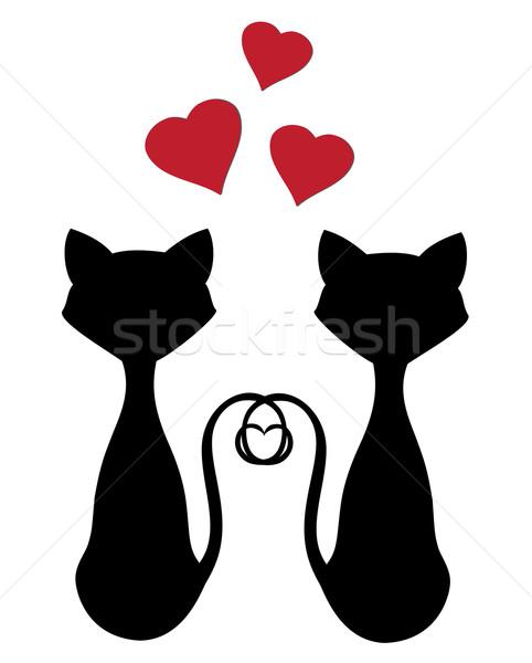 amor de silueta gato - photo #8