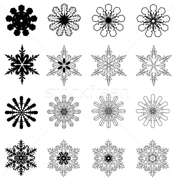 Flocos de neve floco de neve natal abstrato natureza neve Foto stock © lilac