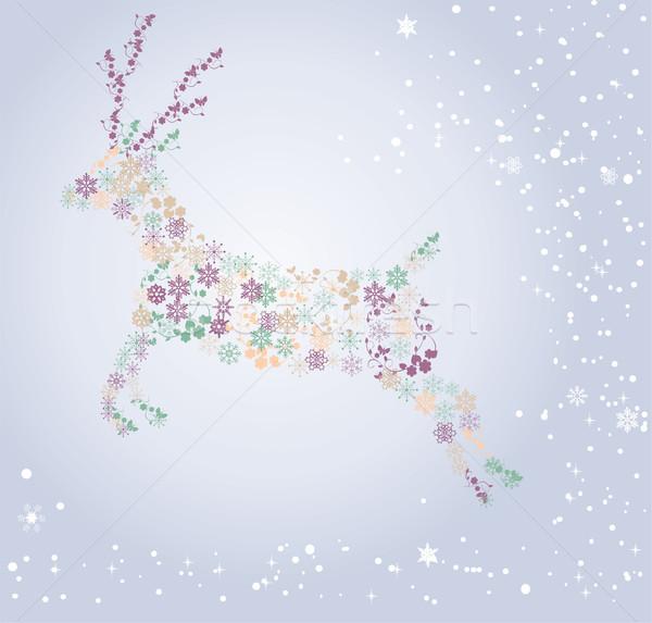 snow deer Stock photo © lilac