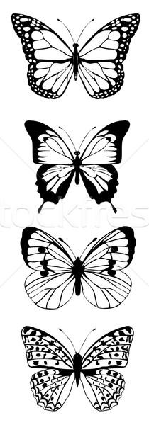 Vector Epocă Fluturi Colorat Fluture Modă