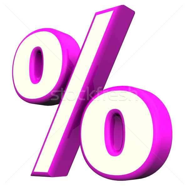 Purple Percent Symbol Stock photo © limbi007