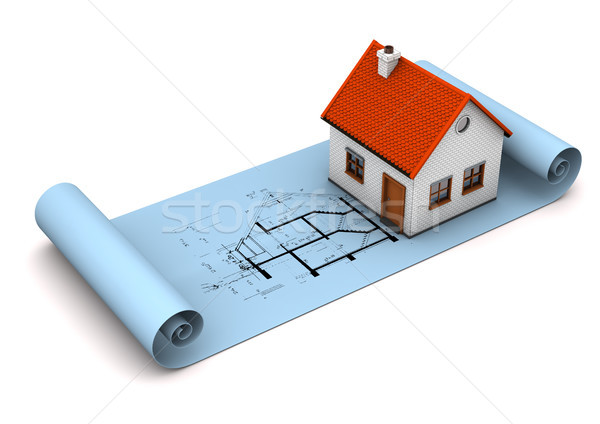 Architectural Drawing Stock photo © limbi007