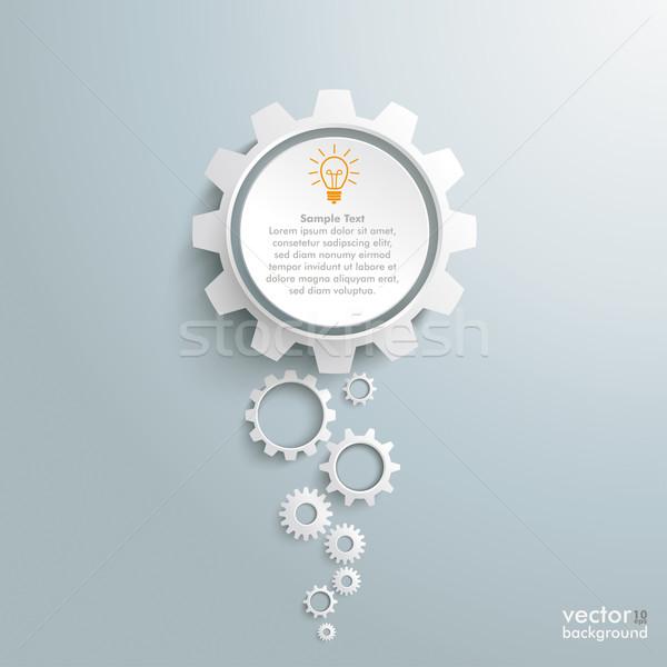 Groot idee witte versnellingen ontwerp Stockfoto © limbi007