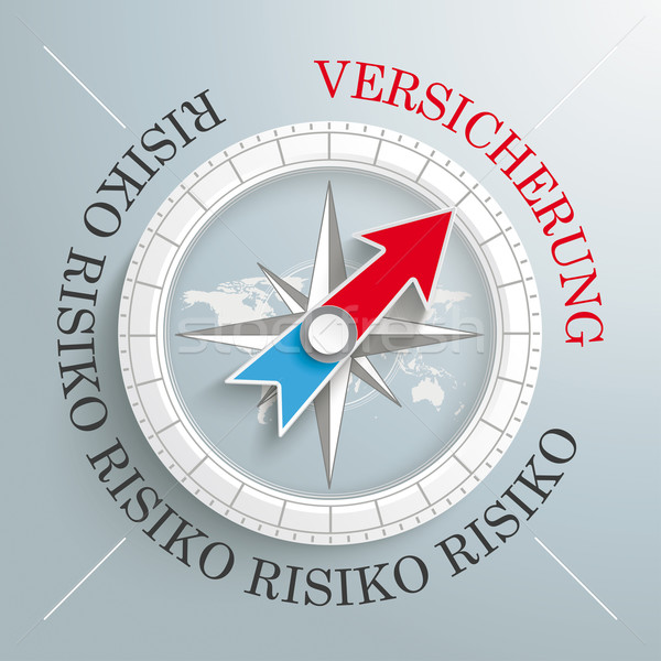 Compass Risiko Versicherung Stock photo © limbi007