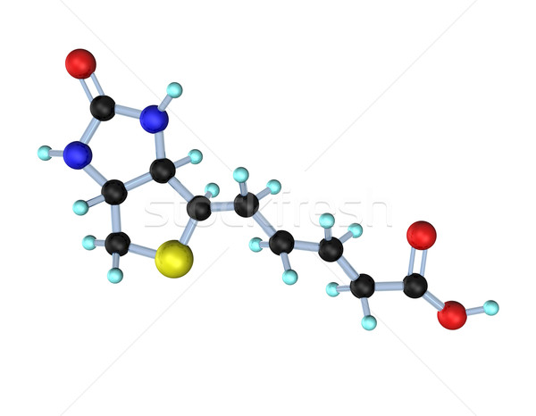 Molecule Vitamin B7 (Biotin) Stock photo © limbi007