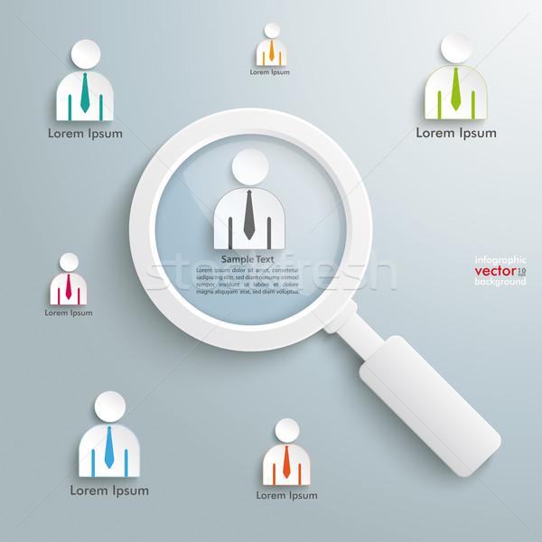 Recruitment Loupe Infographic Stock photo © limbi007