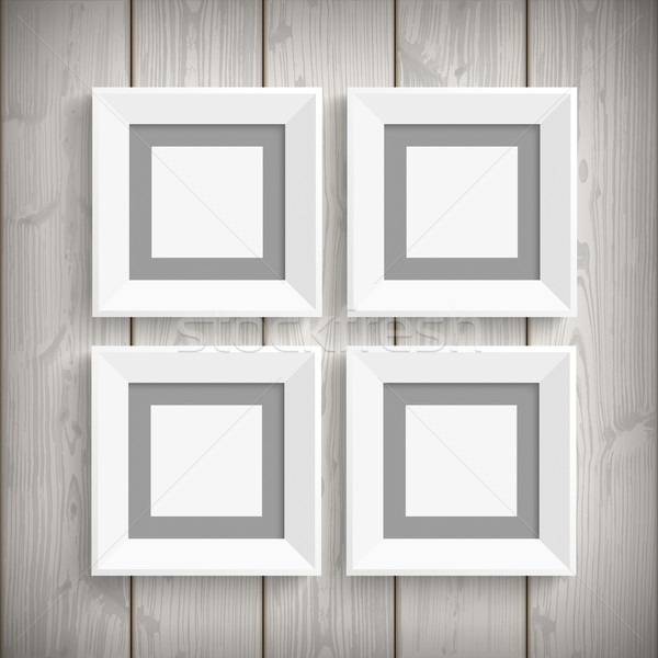 4 Picture Frames Wood Stock photo © limbi007