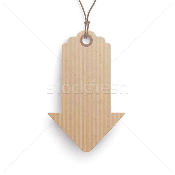 Carton Hanging Price Sticker Arrow Stock photo © limbi007