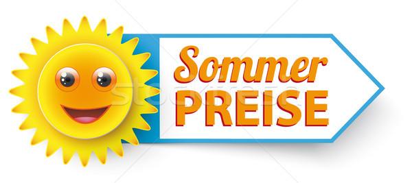 Vicces nap szöveg nyár eps 10 Stock fotó © limbi007