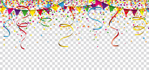 Carnival Confetti Ribbons Festoon Header Transparent Stock photo © limbi007